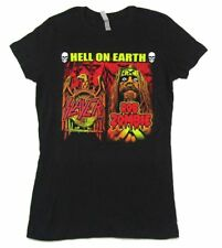 SLAYER ROB ZOMBIE HELL ON EARTH 2011 USA CDN TOUR GIRLS JUNIORS T-SHIRT NEW