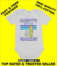 BABY ONE PIECE, ROMPER. ONESIE. printed with DADDY'S LITTLE GROMMET brand new