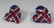 Jack Is Back! - Union Jack Crystal Earrings - Stud Hearts