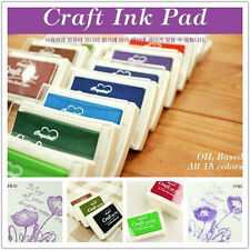 15 Colors cube ink stamp pad Craft inkpad Rubber Stamp Ink Pad