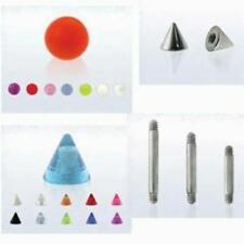 U-Pick Style Color 16G 1.2mm Ball / Cone for Barbell Ear Bar Body Jewelry New US