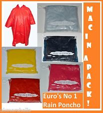 Mac in a Pack! Waterproof Poncho Rain Coat Jacket One Size 5 Colours Fast Post