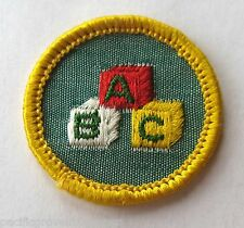 Girl Scout 1963-80 Cadette CHILD CARE BADGE, CHOOSE Babysitting ABC Blocks Patch