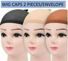 Stocking Wig Caps 2 Pcs Black Brown Natural Beige Nude Liner Nylon Quality NEW