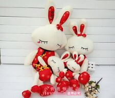 Hot sale Festival Tangzhuang rabbit plush toy gift 40cm 55cm can be choose 1pc