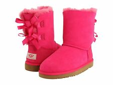 NEW KIDS GIRLS WOMEN UGG AUSTRALIA BAILEY BOW CERISE HOT PINK  3280 K