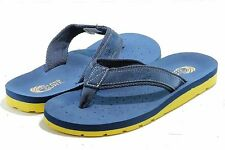 Island Surf Men's Fashion Sandals Classic Navy/Yellow Flip Flop Shoes