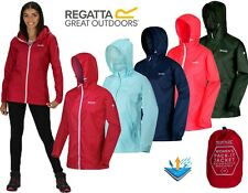 LADIES REGATTA LIGHTWEIGHT BREATHABLE WATERPROOF JACKET IN A BAG SIZES 10-26