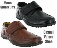 New Mens Leather Lined Soft Velcro Fastening Smart Casual Leisure Shoes UK 6-12