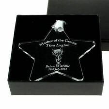 Personalised Mother of the Bride, Groom acrylic star