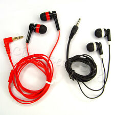 3.5mm In-Ear Noise Sound Isolating Flat Cable Earbud Earphone for MP3 Radio LOT