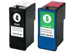 2 Non-OEM For Lexmark No 4 & 5 Printer Ink Cartridges