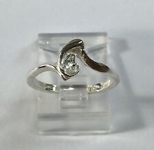 Sterling Silver Ring Setting For (1) 4-8mm Half-Drilled Pearl Size 5, 6, 7 or 8