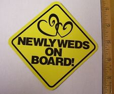 """YOU GET 2 """"NEWLYWEDS ON BOARD"""" MAGNET BRIDAL WEDDING SHOWER FAVORS-YOUR CHOICE"""