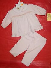BNWT GIRLS PINK VELVET TOP & PANTS   SIZE 000 TO 2