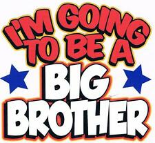 I'M GOING TO BE A BIG BROTHER White Kids Tee Shirt 2-4=XS To 14-16=LG