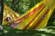 NEW Authentic COTTON Mayan Mexican JUMBO Handwoven Hammock BED from Yucatan
