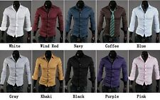 2013 New Mens Luxury Stylish Casual Dress Slim Fit Shirts 10 Colours 4 Size