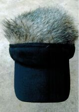 fur cap hat with removable fur hair visor golf baseball hat fits all adjustable