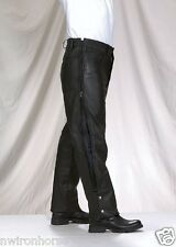 Heavy Duty Top Grade Naked Leather Chap Pants With 5 Pockets #SALE New MC1000-01