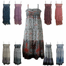 New Girl Long Maxi Summer Chiffon Floral Dress with Spaghetti Straps Age 4 - 14