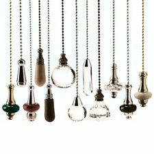 Large Selection of Light Pulls with Chains - Chrome - Brass - Antique Brass