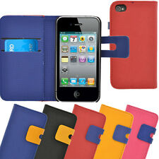 Apple iPhone 4 4S Case, Stylish Fashion Flip Wallet Case / Cover built in Stand