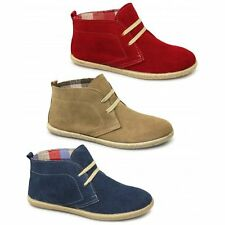 Cotswold FRANKHAM Womens Ladies Suede Leather Casual Desert Boots Navy/Beige/Red