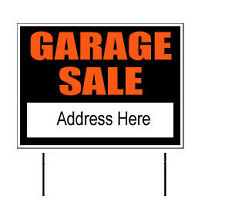 "Garage Sale Yard Sign 18""x24"" Choose from 4 colors!"