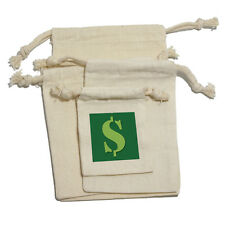 Dollar Sign Money Muslin Cotton Gift Party Favor Bags