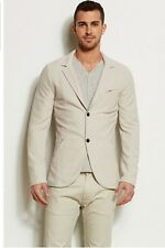 ARMANI EXCHANGE TEXTURED KNIT FITTED BLAZER Silver Cloud NWT