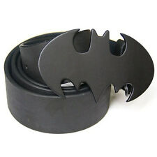 New Western Cowboy Batman Superhero Black Mens Metal Belt Buckle Leather Costume