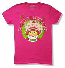 """STRAWBERRY SHORTCAKE """"BERRYLICIOUS"""" PINK BABY DOLL T-SHIRT NEW OFFICIAL JUNIORS"""