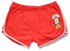 "STRAWBERRY SHORTCAKE ""SWEET THING"" RED COTTON SHORTS NEW OFFICIAL JUNIORS"