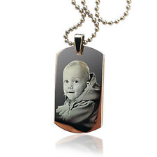 Personalised St. Steel Photo Engraved ID TAG, DOG TAG Pendant Christmas gift