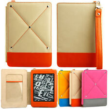 FASHIONABLE  COVER CASE for KINDLE PAPERWHITE BEIGE ORANGE AUTO SLEEP +SP