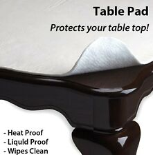 "New in Sealed Table Protector Table Pad Vinyl Flannel Back - 52"" X 70""/90""/108"""