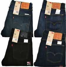 Levis 513 Jeans Slim Straight Stonewashed 0200 0242 0186 0183 Black Blue Indigo
