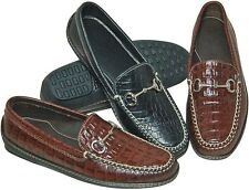 Traditions by Steve Calvert Bit Drivers Genuine Handsewn Moc Croco Retail  $145