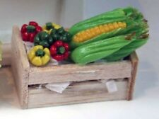 Dolls House Miniature 1/12th Scale Wooden Crate of Vegetables -Various