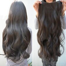"""Women Long Curly Wavy 6 Clips In On  Ladies Hair Extensions Full Head Top 29"""""""