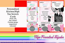 Personalised Scratch Cards - Pack 20. Bridal Shower / Kitchen Tea