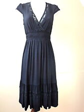 Ghost Sakura Coco Indigo Navy Blue Dress Size XS - L. Label Price £120 UK Seller