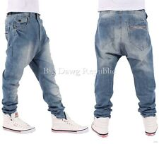 NAPPY BOY DROP CROTCH MENS BOYS HAMMER FIT SANTIAGO STYLE JEANS TIME MONEY IS