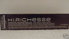 LOREAL HI RICHESSE Professional Ammonia Free Conditioning Creme Hair Color 1.7oz