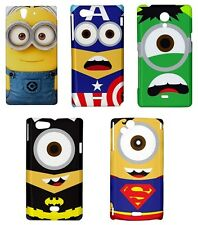 Sony Xperia Despicable me case cover Minion Heroes bumper T J Z V S ZL Ion Arc