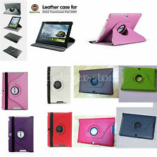 "360° Rotating Leather Case+Stylus For 10.1"" Asus Transformer Pad TF300 TF300T"