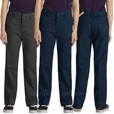 Dickies School Uniform pants Girls / Junior Stretch Straight leg Pant Black Navy