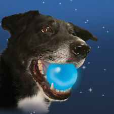 METEORLIGHT K-9 LED BALL - Floats Lights Up Stays Lit Night Dark Puppy Dog Toy