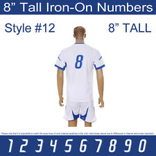 "8"" Tall Iron-On Number for Football Baseball Jersey Sports T-Shirt Style #12."